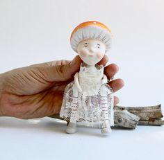Toadstool Mushroom Girl Paper Clay Sculpture by GideonAndBrisby