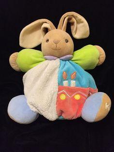 Kaloo Chubby Bunny Candle Comforter Green Plume Plush Soft Toy Rattle Large | eBay