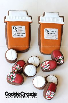 Clever Get Well Cookies: RX Pill Bottles and Pills (CookieCrazie Tutorial)
