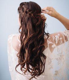 This is soooo pretty. ... ... Long Braided Chignon Bridal Hair 2015 – 2016.