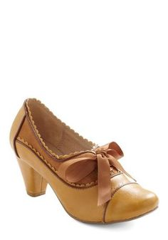 Great Gatsby Style: Notch Your Step Heel in Caramel, ModCloth