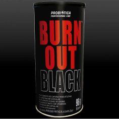 Burn Out Black é um Pack composto por substâncias que estimulam a termogênese como Cafeína e L-Carnitina, além de vitaminas do complexo B e 100% da ingestão diária recomendada de Cromo.   Burn Out Black contém em cada PACK :   1 cápsula de cafeína  2 cápsulas de L-carnitina  1 cápsula de cromo picolinato  1 cápsula de guaraná e mate com vitaminas e minerais