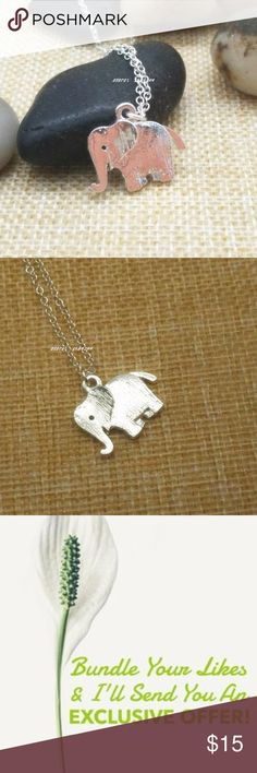 Delicate Silver Elephant Necklace Quantity Available: 6 Jewelry Necklaces