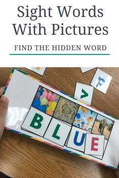 Sight Words with Pictures - Find the Hidden Word - Beginning to Read Teaching Sight Words, Dolch Sight Words, Teaching The Alphabet, Creative Teaching, Teaching Resources, School Resources, Classroom Resources, 2nd Grade Classroom, Educational Activities