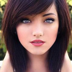 Image result for chocolate brown blue hair side parting