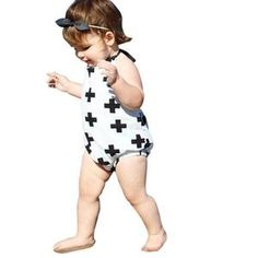 Fabal Baby Short-Sleeved Bow Cartoon Print Bib Gentleman Fitted One-Piece Bodysuit