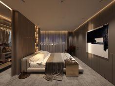 Outstanding modern bedroom designs are offered on our website. Hotel Bedroom Design, Bedroom Closet Design, Home Room Design, Apartment Interior Design, Home Decor Bedroom, Bedroom Plants, Bedroom Ideas, Bedroom Inspiration, Bedroom Retreat