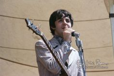 Paul McCartney onstage at Crosley Field, Cincinnati, Aug. 21 1966.