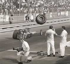 Drag Racing, danger tire in your face boys!  #OldSchoolNHRA