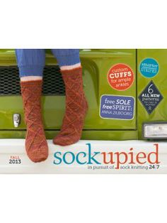 Sockupied Fall 2013 for PC & Mac: 6 new knitted sock patterns, tips for customizing socks