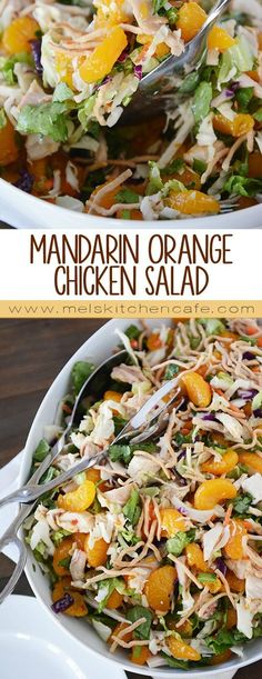 This Mandarin Orange Chicken Salad is amazing. It doesn't require an oven. It's super fast to throw together. And it's wonderfully light and refreshing.