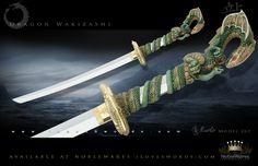 Dragon Wakizashi 263 Gold by Marto of Toledo Spain