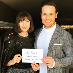 Sam Heughan and Caitriona Balfe may play love interests as Jamie Fraser and Claire Randall on Outlander, but sadly, they're only friends in real life. E Claire, Claire Fraser, Jamie And Claire, Jamie Fraser, Outlander Casting, Outlander Tv Series, Outlander News, Outlander Quotes, Sam Heughan Caitriona Balfe