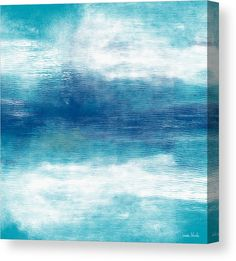 Abstract Canvas Print featuring the mixed media Beach Mood 2- Abstract Art By Linda Woods by Linda Woods