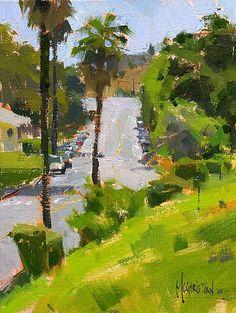 Near the Barlow Sleep Center by Jennifer McChristian Oil ~ 6 x 8