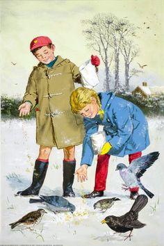Feeding the birds in winter