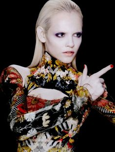 Vogue Nippon  Model: Ginta Lapina  Photographer: François Nars  Styled by: Patti Wilson  Make Up by: Lena Koro