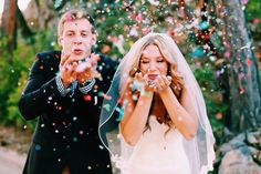 Confetti kiss...but perhaps a snow kiss for our winter wedding x