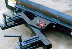 Snow plow attachment for front end loader