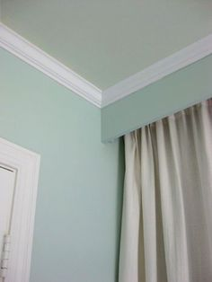 Paint the ceiling in a muted tone; Our Home's Recently Expanded Color Palette | Young House Love