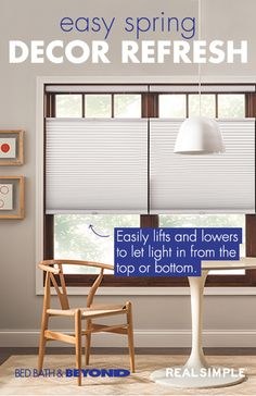 Refresh your home décor while you dive into spring cleaning by replacing mini blinds or curtains with Real Simple® window shades. Your house will feel extra clean when you say goodbye to old, dusty window treatments, and hanging up a sleek, modern shade is an easy and inexpensive way to give any room a major style upgrade.