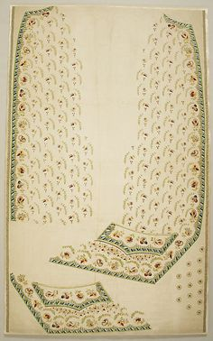 Waistcoat panel, French, 1780–85
