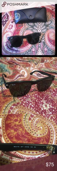 07564a2a256c5 Ray-Ban Clubmaster oversized sunglasses (RB 4175) Worn for a few months,