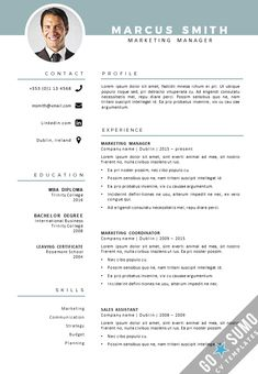 CV Template Dublin - Go Sumo cv template Creative Cv Template, Best Cv Template, Cv Design Template, Business Plan Template, Microsoft Word Resume Template, Resume Template Examples, Cv Examples, Word Cv, Cv Words