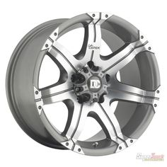 Dick Cepek Gun Metal 7 Wheel with 8x6.5 Bolt Pattern | SuperTruck(17x9 8 on 6.5) | Supertruck