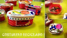 Un costurero reciclado para hacer un regalo útil y económico a tu mamá o quizas también para tí, si vas a empezar a hacer labores ejeje http://www.manualidadesinfantiles.org/un-costurero-reciclado