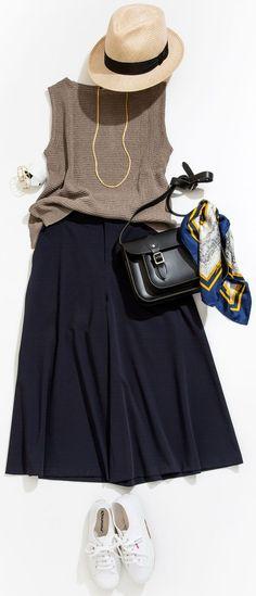 Spring Look : Lesson of the Week: Elegant Corde with Loose Pants (Lumine Yurakucho) Cute Summer Outfits, Casual Outfits, Fashion Outfits, Fashion Trends, Japan Fashion, Love Fashion, Womens Fashion, Chanel Fashion, Xl Mode