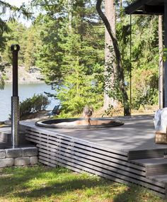 Hot Tub Backyard, Jacuzzi Outdoor, Backyard Seating, Sauna Design, Cabin Chic, House Deck, Dordogne, House Landscape, Forest House