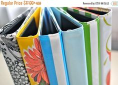 CLEARANCE 1-inch mini binder RETIRED PRINTS// oilcloth by rbtbags                                                                                                                                                     More