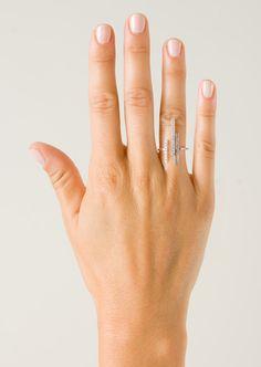 Yvonne Léon Rings :: Yvonne Léon Mini Barette ring in white gold and white diamonds | Montaigne Market