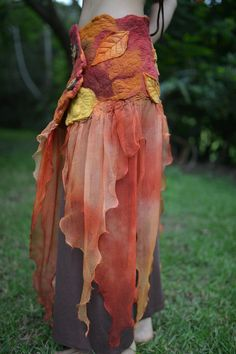 Nuno Felted Fairy Autumn Maple Leaf Magical Silk by frixiegirl, $206.00