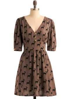Even though I love furry creatures of the wild, I do support my love. This dress is a nod to the approaching deer season.