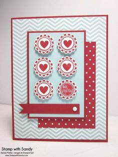 A Round Array Valentine, PPA187 & TSOT150 by stampwithsandy - Cards and Paper Crafts at Splitcoaststampers