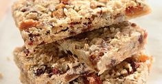 Homemade chewy granola bars, customized to taste with your own favorite fruits and nuts.