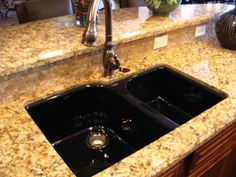 Black Kitchen Sinks please! even like the counter top