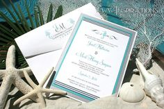 Nautical Seahorse Wedding Invitations by InspirationsbyAmieLe, $50.00