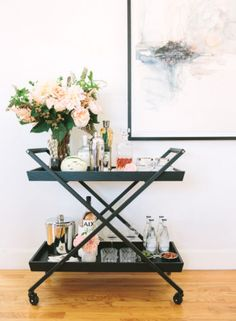Crate and Barrel: Hobbs Bar Cart