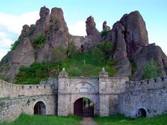 The entrance to Belogradchik Fortress, Bulgaria