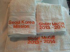 LDS Missionary Towel Sets (Standard)