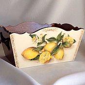 Для дома и интерьера ручной работы. Ярмарка Мастеров - ручная работа Короб сухарница-пирожница «Греческий полдень». Handmade.