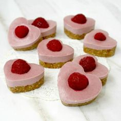 Strawberry and Raspberry Cheesecake Hearts