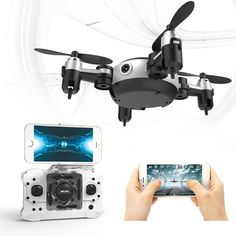 Mini Folding Remote Control Helicopter Mode Camera Drone RTF With HD Camera 2.4G 4CH Quadcopter Helicopter Drone Funny Toys Gift //Price: $37.19//     #shop