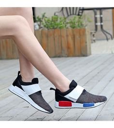 Women's #black velcro canvas shoe #sneakers hollow cut design, Round toe, casual, leisure, summer occasions.