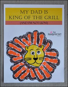 My Dad is King of the Grill Printable Craft - Fun Handprint Art