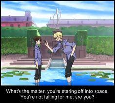 Oh Tamaki, Tamaki. -__- Your just too falling for haruhi