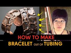 How to Make Bracelet out of Copper Pipe Tubing - YouTube